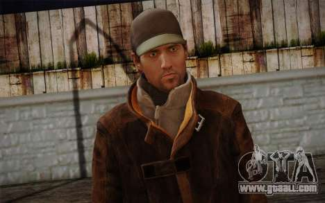Aiden Pearce from Watch Dogs v11 for GTA San Andreas third screenshot
