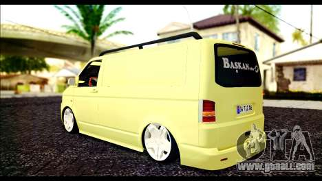 Volkswagen Transporter Panelvan for GTA San Andreas left view