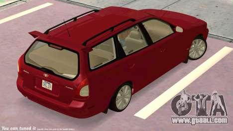 Daewoo Nubira I Wagon CDX US 1999 for GTA San Andreas side view