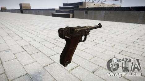 Pistol Luger P08 for GTA 4 second screenshot