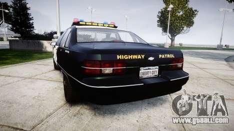 Chevrolet Caprice 1991 Highway Patrol [ELS] for GTA 4 back left view