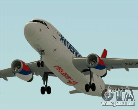 Airbus A319-100 Air Serbia for GTA San Andreas engine