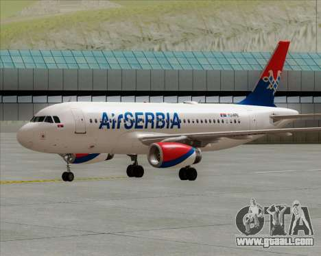 Airbus A319-100 Air Serbia for GTA San Andreas back left view