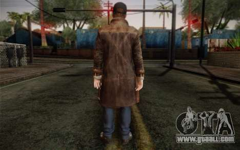 Aiden Pearce from Watch Dogs v12 for GTA San Andreas second screenshot