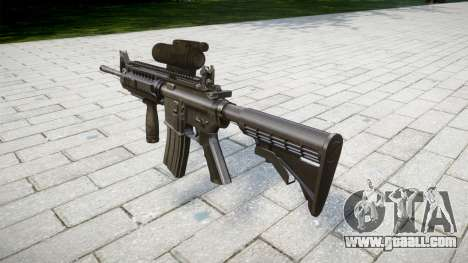 Automatic M4 carbine Tactical Sirs for GTA 4 second screenshot
