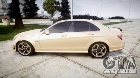 Mercedes-Benz C63 AMG 2010 for GTA 4 left view