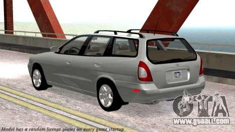 Daewoo Nubira I Wagon CDX US 1999 for GTA San Andreas upper view
