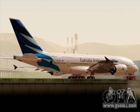 Airbus A380-800 Garuda Indonesia for GTA San Andreas side view