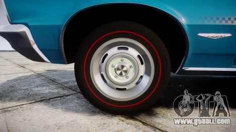 Pontiac GTO 1965 victory cars for GTA 4 back view