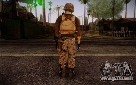 Brady from Battlefield 3 for GTA San Andreas second screenshot