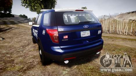 Ford Explorer 2013 LCPD [ELS] v1.0L for GTA 4 back left view