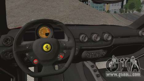 Ferrari F12 Berlinetta 2013 for GTA San Andreas inner view