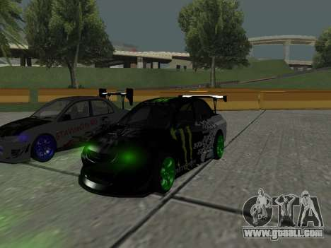 Mitsubishi Lancer Evo 9 Monster Energy for GTA San Andreas left view