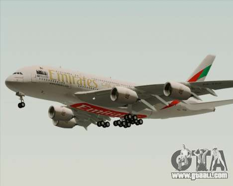 Airbus A380-800 Emirates 40 Anniversary Sticker for GTA San Andreas right view