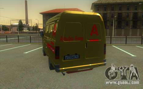 GAZelle 2705 Collection Of Alfa Bank for GTA San Andreas back left view
