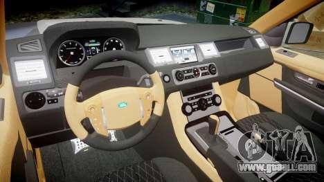 Range Rover Sport Kahn Tuning 2010 for GTA 4 inner view