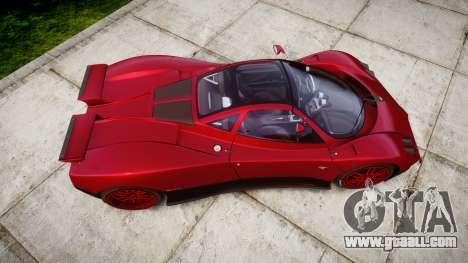 Pagani Zonda C12 S 7.3 2002 PJ2 for GTA 4 right view
