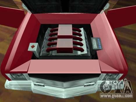 Buccaneer Turbo for GTA San Andreas upper view