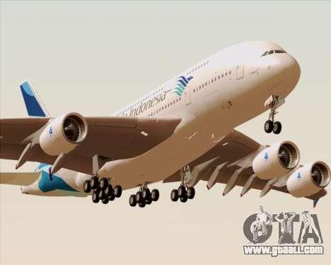 Airbus A380-800 Garuda Indonesia for GTA San Andreas engine