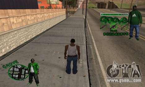 C-HUD Groove for GTA San Andreas second screenshot