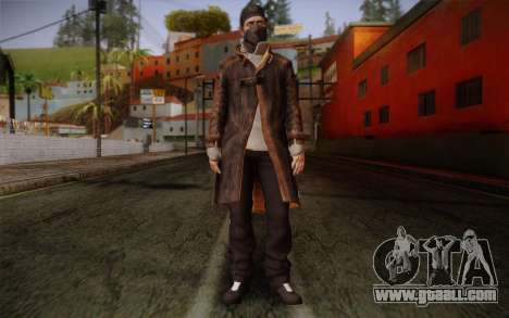 Aiden Pearce from Watch Dogs v4 for GTA San Andreas