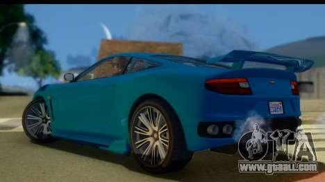 GTA 5 Dewbauchee Massacro for GTA San Andreas left view