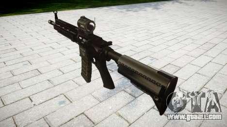 Machine HK416 AR target for GTA 4 second screenshot