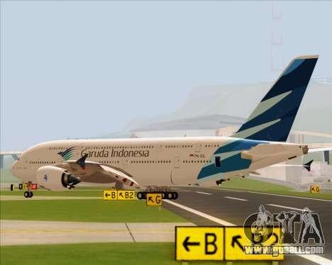 Airbus A380-800 Garuda Indonesia for GTA San Andreas left view
