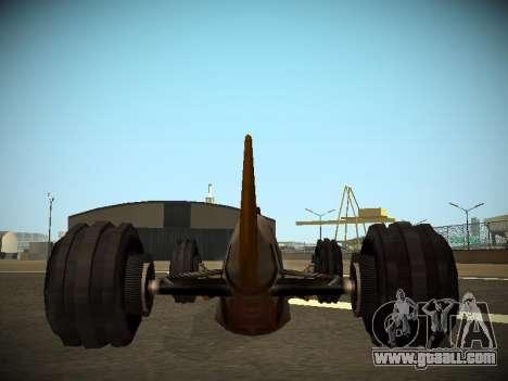 Rustler Rod Beta for GTA San Andreas back view