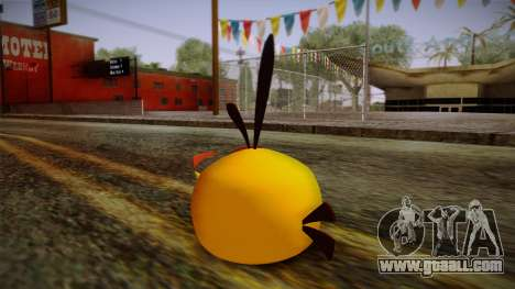 Orange Bird from Angry Birds for GTA San Andreas second screenshot