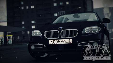 BMW 535i F10 for GTA San Andreas left view