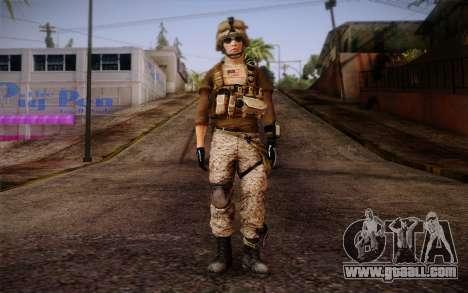 Brady from Battlefield 3 for GTA San Andreas