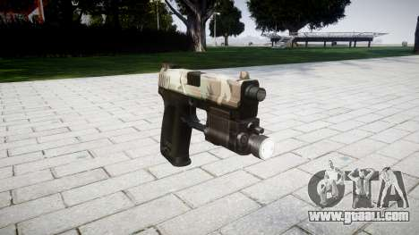 Gun HK USP 45 woodland for GTA 4
