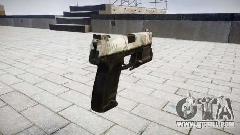 Gun HK USP 45 woodland for GTA 4 second screenshot
