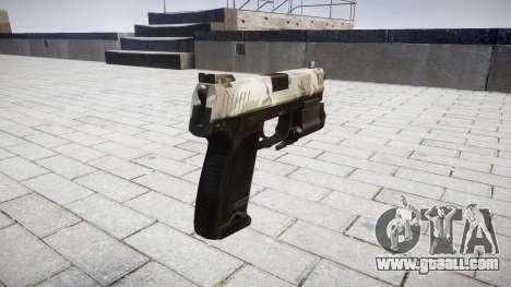 Gun HK USP 45 woodland for GTA 4 second screenshot