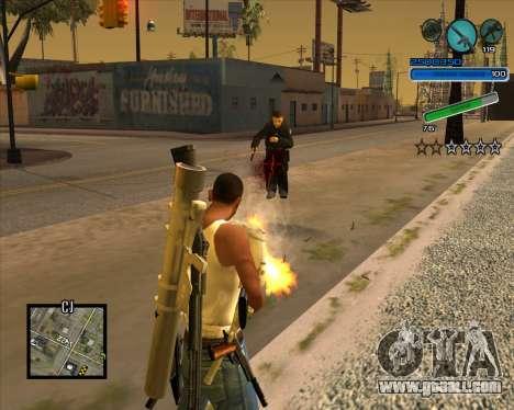 Excellent C-HUD for GTA San Andreas second screenshot