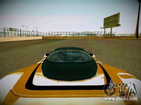 Cheetah из GTA 5 for GTA San Andreas back view