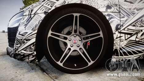 Audi R8 plus 2013 HRE rims Sharpie for GTA 4 back view