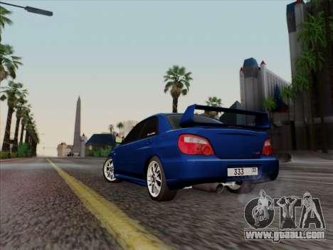 Subaru impreza WRX STI 2004 for GTA San Andreas back left view