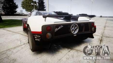 Pagani Zonda C12 S 7.3 2002 PJ3 for GTA 4 back left view