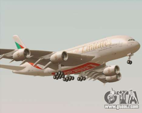 Airbus A380-800 Emirates 40 Anniversary Sticker for GTA San Andreas back view
