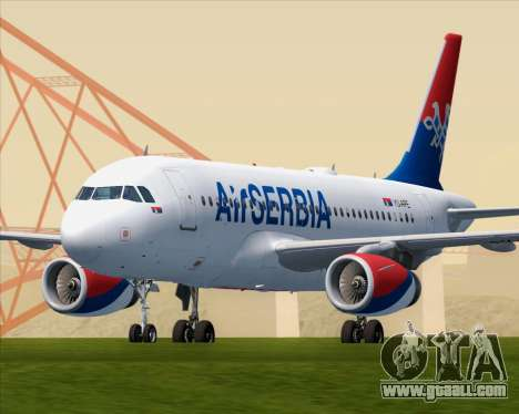 Airbus A319-100 Air Serbia for GTA San Andreas