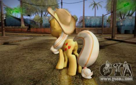 Applejack from My Little Pony for GTA San Andreas second screenshot