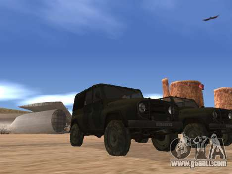 UAZ 3151 (CoD 4 MW) for GTA San Andreas back left view