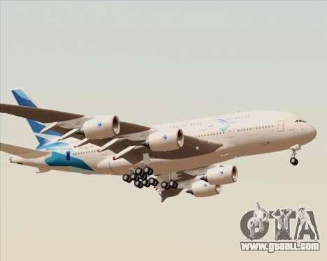 Airbus A380-800 Garuda Indonesia for GTA San Andreas right view