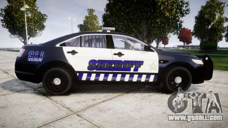 Ford Taurus 2014 Sheriff [ELS] for GTA 4 left view