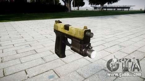 Gun HK USP 45 olive for GTA 4