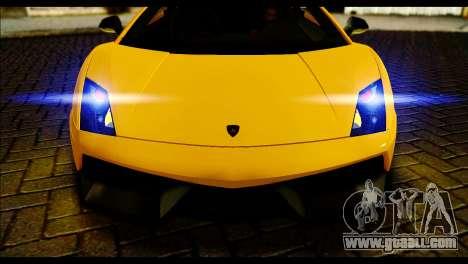 Lamborghini Gallardo LP 570-4 for GTA San Andreas back left view