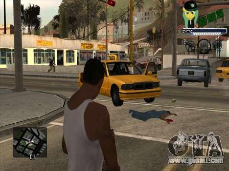 C-HUD Grove Street Gang for GTA San Andreas second screenshot