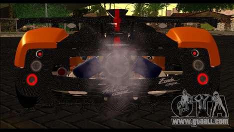 Pagani Zonda Cinque Roadster for GTA San Andreas back view